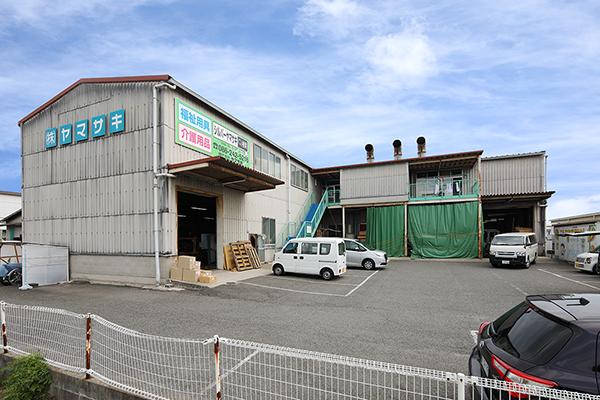 山崎のベビーベッド工場の外観
