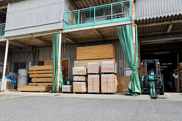 山崎のベビーベッド工場の正面